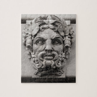 Terracotta Stone Faces on Historic Building Jigsaw Puzzle