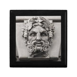 Terracotta Stone Faces on Historic Building Small Square Gift Box
