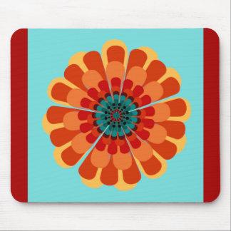 Terracotta Teal Flower Mousepads