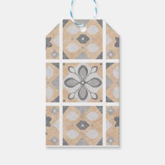 Terracotta Vintage Tiles Design Gift Tags