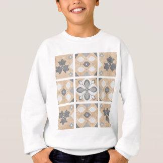 Terracotta Vintage Tiles Design Sweatshirt