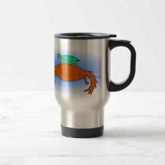 Terrapin floating on a fox travel mug