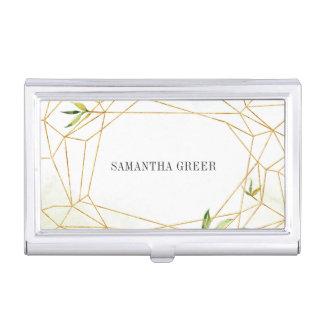 Terrarium | Geometric Botanical Personalized Business Card Holder