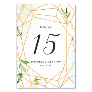 Terrarium | Personalized Table Number Card