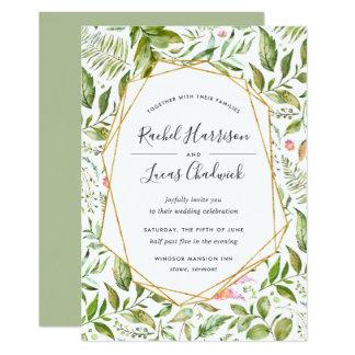 Terrarium Wedding Invitation