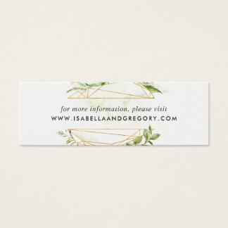 Terrarium Wedding Website Cards | Mini