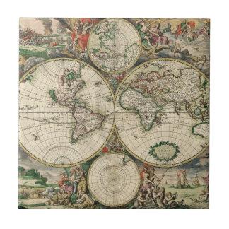 Terrarum Orbis Tabula Ceramic Tile