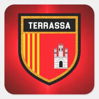 Terrassa Flag Square Sticker