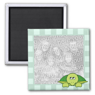 Terrence Tortoise Striped Photo Frame Style Magnet
