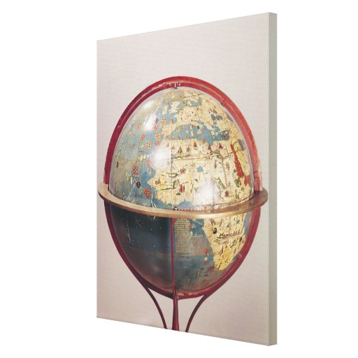 Terrestrial Globe, showing the Indian Ocean Gallery Wrapped Canvas