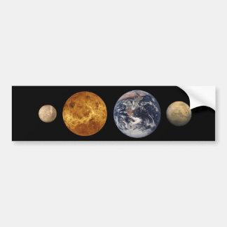 Terrestrial Planet Size Comparison Sticker