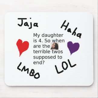 Terrible Twos Customizable Child Photo Design Mouse Pad
