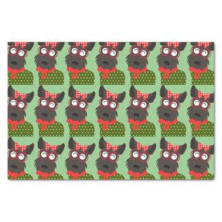 Terrier Christmas Tissue Paper
