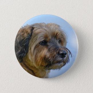 Terrier Design 6 Cm Round Badge