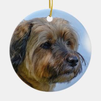 Terrier Design Ceramic Ornament
