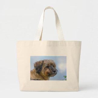 Terrier Design Large Tote Bag