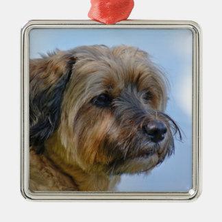 Terrier Design Metal Ornament