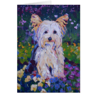 Terrier Painting Card