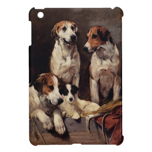 Terrier Pet Dogs Animals Painting Cover For The iPad Mini