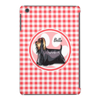 Terrier; Red and White Gingham iPad Mini Retina Cover