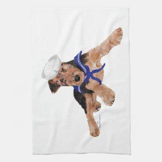 Terrier Sailor Boy Tea Towel