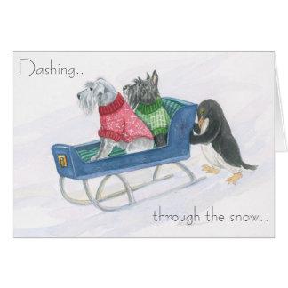 Terrier Sleigh Ride Card