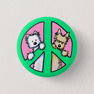 Terriers For Peace 3 Cm Round Badge