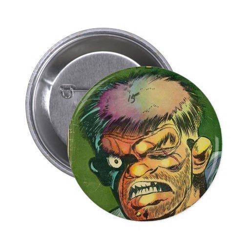Terrific horror comic book pinback button