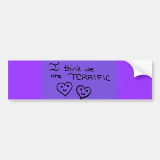 Terrific purple heart doodles bumper stickers