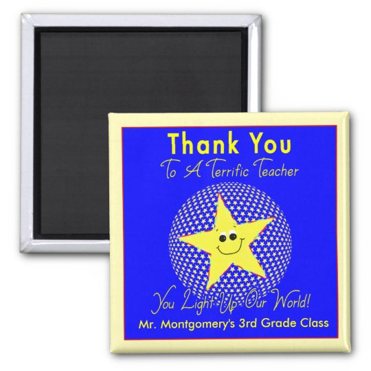 Terrific Star Teacher Thank You from Class Magnet