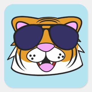 Terrific Tiger Square Sticker