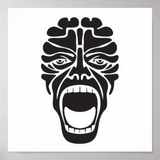 terrifying mask poster