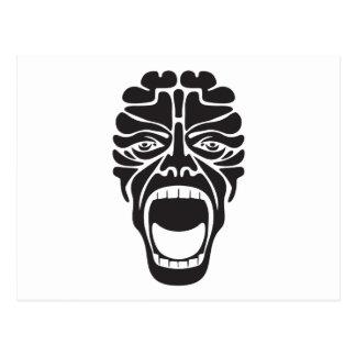 terrifying scream postcard
