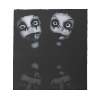 Terror twins haunted dolly product notepad