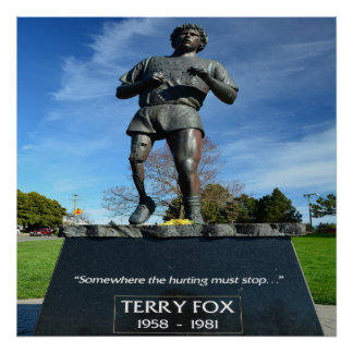 "Terry Fox 24"" x 24"", Value Poster Paper (Matte)"