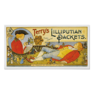 Terry's Lilliputian Packets Label Poster