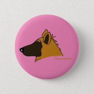 Tervueren head silhouette 6 cm round badge