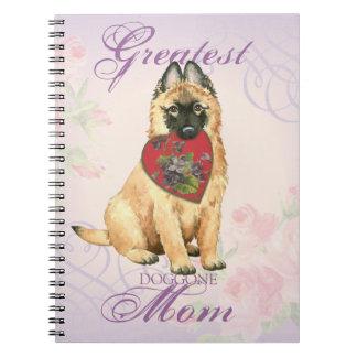 Tervuren Heart Mom Notebook