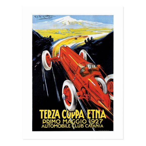 Terza Cuppa Etna 1927 Post Card
