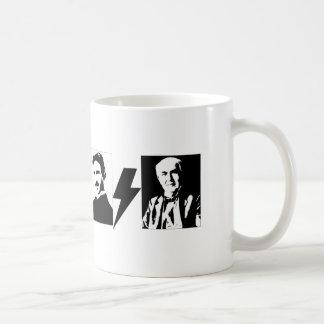 Tesla and Edison - the Original AC/DC. Basic White Mug