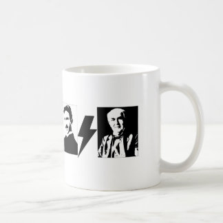 Tesla and Edison - the Original AC/DC. Coffee Mug