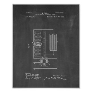 Tesla Apparatus For Producing Ozone Patent - Chalk Poster
