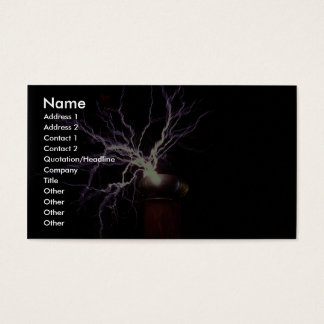 Tesla coil arcing business card