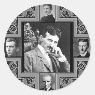 Tesla Coil Round Sticker