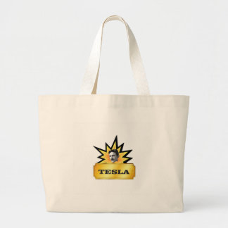 tesla explosion large tote bag