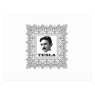tesla in a box postcard