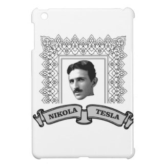tesla in round iPad mini cases