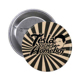 Tesla is my Homeboy Pin