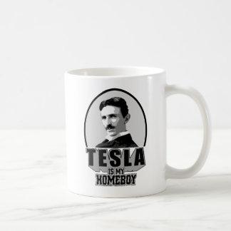 Tesla Is My Homeboy Basic White Mug