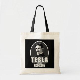 Tesla Is My Homeboy Budget Tote Bag